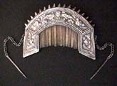 Antique Silver Hmong Comb