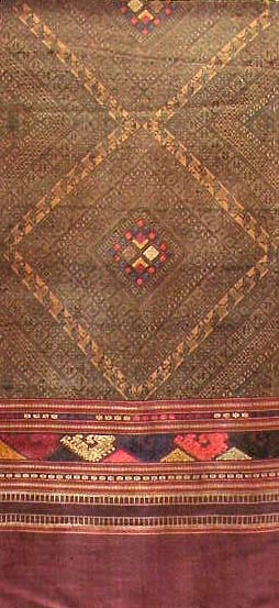 Silk Embroidered Laotian Textile